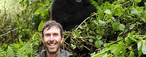 Simon Gorilla trekking in Rwanda by Trevor Savage