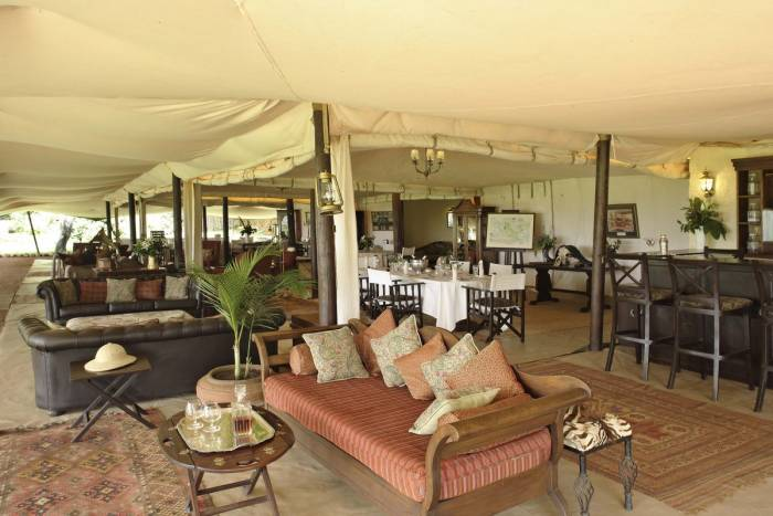 Cottar's 1920's - Main Lounge - Kenya