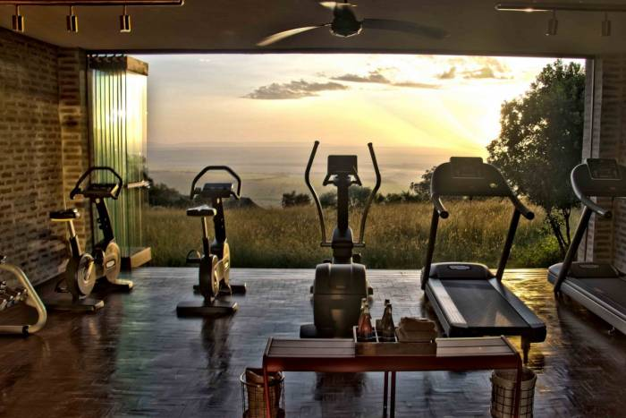 Fitness Room with a View Angama Mara