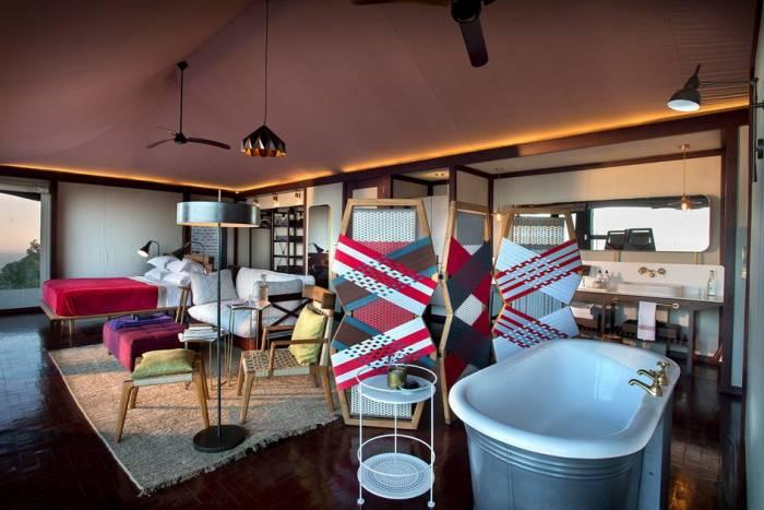 Inside Angama Mara's Tent